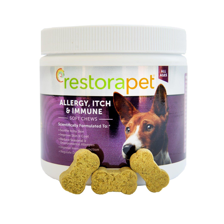 RestoraPet Allergy, Itch & Immune Support Chews – 60 Count – Bacon Flavor